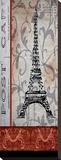 Paris Postcard Panel Stretched Canvas Print by Karen J. Williams