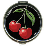 Cherries Round Compact Compact Mirror