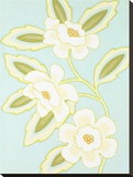 Spring and White Floral I Stretched Canvas Print by Monica Kuchta