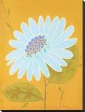 Blue Pop Flower II Stretched Canvas Print by Monica Kuchta