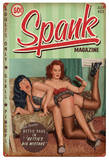 Bettie Page Spank Metal Sign Wall Sign