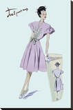 Dress with Frills, 1947 Stretched Canvas Print