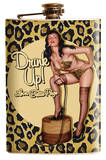 Bettie Page Leopard Flask Flask