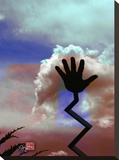 Cloud Hands Stretched Canvas Print by Suzanne Silk