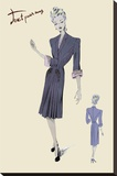 Conservative Suit Dress, 1947 Stretched Canvas Print
