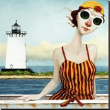 Goggles in Edgartown Harbor Stretched Canvas Print by Fred Calleri