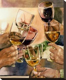 Cheers! Stretched Canvas Print by Karen Honaker
