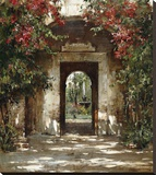 Flowered Doorway Vertical Stretched Canvas Print by Cyrus Afsary