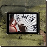 Shanghai Fan Stretched Canvas Print by Suzanne Silk