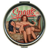 Bettie Page Spank Round Compact Compact Mirror