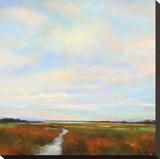 Wetlands I Stretched Canvas Print by Jan E. Moffatt