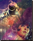 Astronaughty Stretched Canvas Print by John Keddie