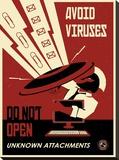 Avoid Viruses Impressão em tela esticada por Steve Thomas