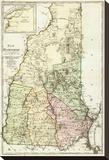 New Hampshire, c.1796 Stretched Canvas Print by Daniel Friedrich Sotzmann