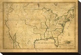 United States, c.1830 Stretched Canvas Print by Maria Symonds