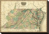 Virginia, Maryland and Delaware, c.1823 Stretched Canvas Print by Henry S. Tanner