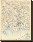 New London, Connecticut, c.1893 Stretched Canvas Print