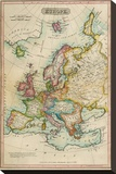 Europe, c.1820 Stretched Canvas Print by John Melish