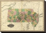 Pennsylvania and New Jersey, c.1823 Stretched Canvas Print by Henry S. Tanner