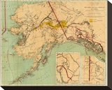 The Gold and Coal Fields of Alaska, c.1898 Stretched Canvas Print