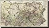 Pennsylvania, c.1797 Stretched Canvas Print by Daniel Friedrich Sotzmann