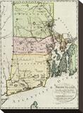 Rhode Island, c.1797 Stretched Canvas Print by Daniel Friedrich Sotzmann