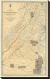 Civil War Map of the Region between Gettysburg and Appomattox Court House, c.1869 Stretched Canvas Print