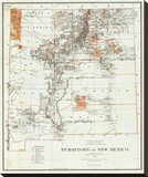 Territory of New Mexico, c.1879 Stretched Canvas Print