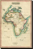 Africa, c.1820 Stretched Canvas Print by John Melish