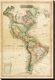America, c.1820 Stretched Canvas Print by John Melish