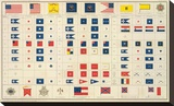 Civil War: Flags, Badges, c.1895 Stretched Canvas Print