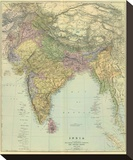 Composite: India, c.1901 Stretched Canvas Print by Edward Stanford