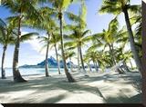 Hammock at Bora Bora, Tahiti Stretched Canvas Print
