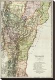 Vermont, c.1797 Stretched Canvas Print by Daniel Friedrich Sotzmann