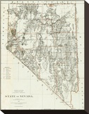 State of Nevada, c.1879 Stretched Canvas Print