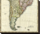 South America and West Indies, c.1823 Stretched Canvas Print by Henry S. Tanner