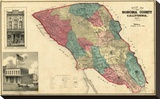 Map of Sonoma County California, c.1877 Stretched Canvas Print by Thos. H. Thompson