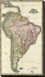 Composite: South America, West Indies, c.1823 Stretched Canvas Print by Henry S. Tanner