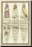 Globo Terrestre II, c.1792 Stretched Canvas Print by Giovanni Maria Cassini