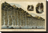 Length of the Rivers of Scotland, c.1832 Stretched Canvas Print