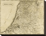 Holland, c.1812 Stretched Canvas Print by Aaron Arrowsmith