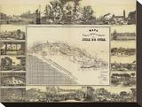 Mapa Historico Pintoresca Moderno de al Isla De Cuba, c.1853 Stretched Canvas Print by B. & C. May