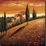 Sunset Over Tuscany I Reproduction sur toile tendue par Santo De Vita