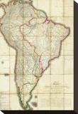 Mapa Geografico de America Meridional, c.1799 Stretched Canvas Print by Juan De La Cruz Cano Y Olmedilla