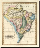 Brazil, c.1823 Stretched Canvas Print by Fielding Lucas
