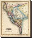 Peru, c.1823 Stretched Canvas Print by Fielding Lucas