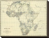 Africa, c.1861 Stretched Canvas Print by Alexander Keith Johnston