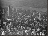 Aircraft over New York City, 1938 (detail) Stretched Canvas Print