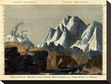 Comparative Height of the Principal Mountains in the World, c.1823 Stretched Canvas Print by Fielding Lucas