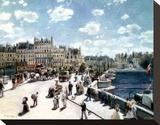 Pont Neuf, Paris Stretched Canvas Print by Pierre-Auguste Renoir